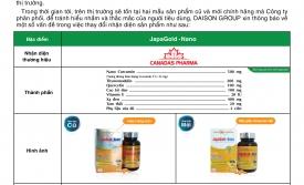 Thông báo cải tiến sản phẩm JapaGold Nano