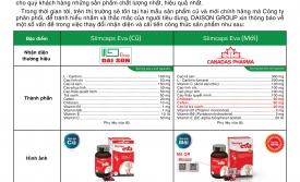 Thông báo cải tiến sản phẩm Slimcaps Eva